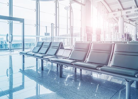 aeropuertos vacíos por el covid-19