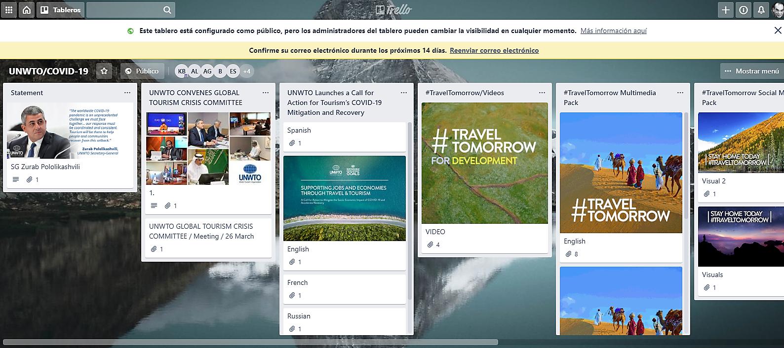 Campaña de la OMT Viajar Mañana