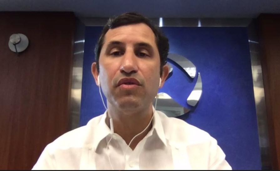El economista Roberto Herrera, ejecutivo de CEPM y Country Manager de Interenergy Group.