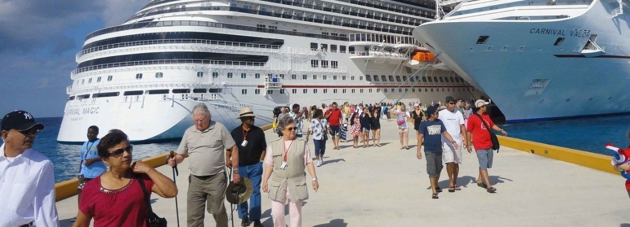 Cruceristas llegando a puertos dominicanos.