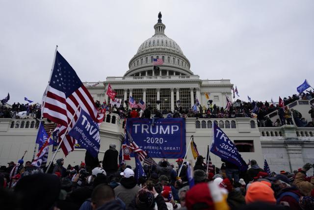 Escenas de los disturbios en el Capitolio