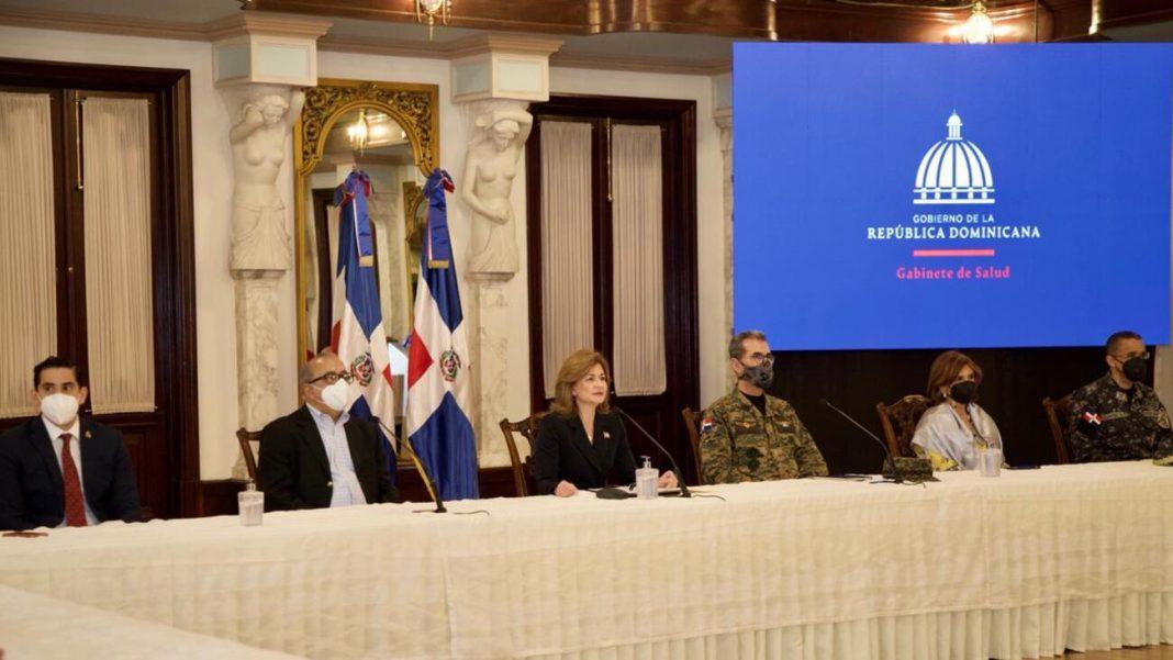 Reuda de prensa del Gabinete de Salud en la mañana de hoy en Santo Domingo.