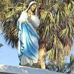Estatua de la Virgen de Fatima con rostro de Irene, hija de Buenavengura Baez.