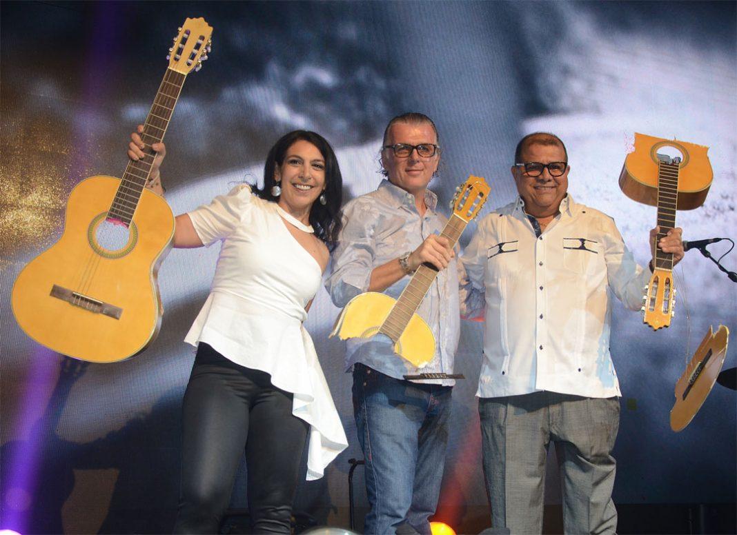 Tanya de los Ríos, Miguel Schaupp y Luis Francis en Hard Rock Cafe Punta Cana
